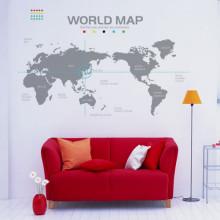 [문고리닷컴] 그래픽스티커 세계지도 시트지/포인트벽지/무쉬/라벨/스티커/리폼
