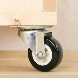 [문고리닷컴] 캐스터-020[(논스톱,스톱)블랙 가구부속/가구바퀴/캐스터/바퀴