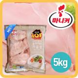 마니커 IQF 가슴살슬라이스 5kg / 요리가 편리한 슬라이스 가슴살 / 지퍼백포장