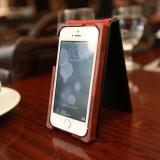 [iPhone 5/5S] BLACK Bubinga S 아이폰 5S 명품케이스 (세로폴딩)