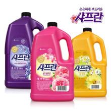 [무료배송]샤프란 4200ml x 4개 (3종-핑크센세이션/릴렉싱아로마/코튼앤크림)/섬유유연제