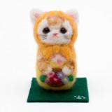 일본 직수입-고양이 마트료시카 / 꽃바구니 (猫マトリョーシカ/アップリケ・花かご) 100%수제,핸드메이드