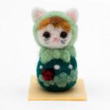 일본 직수입-고양이 마트료시카 / 클로버 (猫マトリョーシカ/アップリケ・クローバー) 100%수제,핸드메이드