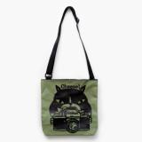 일본 직수입-캔버스 숄더백 / 고양이와 카메라 (帆布ショルダーバッグ / 猫とカメラ)