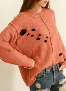 [신상10%즉시할인]KNF573-해리 헤짐스웨터/빈티지니트/가을니트/스웨터/캐쥬얼