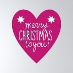 [Basic] 크리스마스 레터링-heart