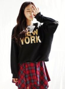 [코코베른&무료배송]TTF640-NEW.YORK MTM/기모맨투맨/맨투맨티셔츠/여성티셔츠/프린팅/캐쥬얼