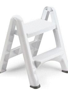 [러버메이드] 폴딩스텝스툴(Rubbermaid Folding Step Stool)화이트-사다리형 2단 디딤대