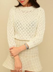 [신상무료배송]KNF618-lovely knit/니트티셔츠/여성니트/라운드넥/크롭니트/데일리룩/이너