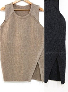 [자체제작]KNF614-coco wool knit vest/니트베스트/레이어드/조끼/여성조끼/옆트임/롱니트/루즈핏