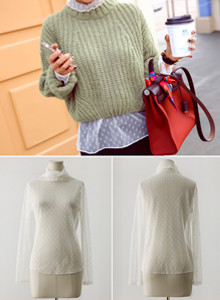 [임블리]high neck lace, bl