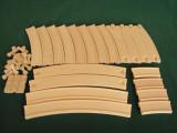 레일세트 곡선 curved rail set