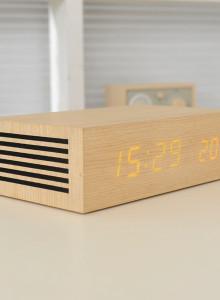 무아스 나무시계 블루투스 스피커 / M9 Bluetooth LED Wooden Clock Speaker