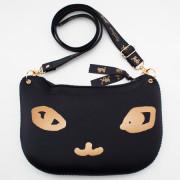 일본 직수입-고양이 얼굴 DX 숄더백-Chat noir / でか猫DX(でにゃっくす)/シャノワール