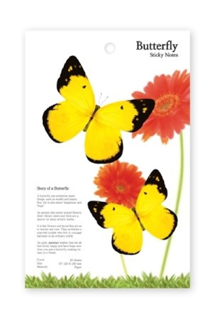 Butterfly Sticky Notes 노랑나비 (Large)