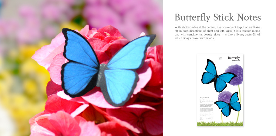 Butterfly Sticky Notes 몰포나비 (Large)
