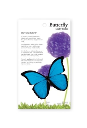 Butterfly Sticky Notes 몰포나비 (Medium)