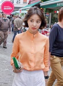 [임블리]하이퀄리티린넨셔츠, 오렌지