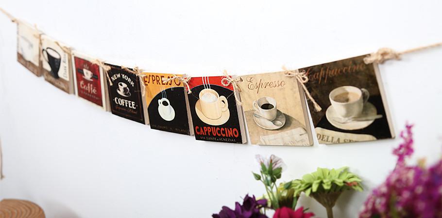 [카페인테리어]카페커피-우드액자가랜드(8x8cmx8개)