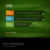 파워포인트 인포 템플릿 / 색종이 테마 / 세로 정렬 목록형