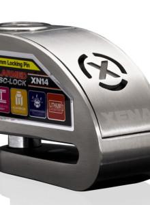 XENA XN10 오토바이락 경보기 도난방지 자물쇠 알람디스크락 이중장금장치