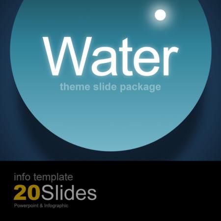 파워포인트 인포 템플릿 / 물방울 테마 슬라이드 패키지