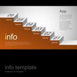 파워포인트 인포 템플릿 / 계단형 프로세스