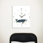 [Millim] Canvas clock - zoo (Whale)