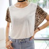 코코베른/여름신상/TTF909/마야 레오파드T/호피무늬/예쁜티셔츠/포인트티/비침/롱티/데일리티셔츠