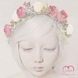 [러프리] 에인셀 / 셀프 웨딩 조화 화관 - 장미