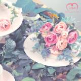 러프리 아프로디테 부케&부토니에 /핑크, 셀프 웨딩 소품 세트