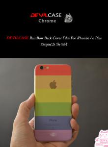 데빌 3D 레인보우 백커버 보호필름 데빌케이스 아이폰6S/6S+