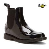 [품절전에]닥터마틴 첼시부츠 블랙유광 / Dr. Martens Faun Chelsea Boot Black Patent Lamper (Women)