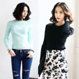 코코베른/KF951/C.B color knit/베이직/심플/여성니트/골지니트티/라운드넥니트/이너룩