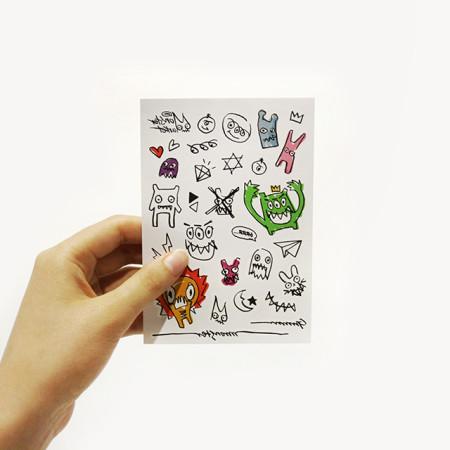 [위알낫몬스터즈]몬스터 페이크 타투 스티커 - Monster fake tatoo
