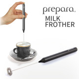 프리파라 우유거품기-건전지로 작동-집에서 마시는 카페라떼,카푸치노,크림맥주 만들기