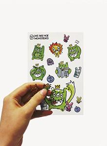 [위알낫몬스터즈]몬스터 투명 스티커 - Monster sticker