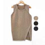 [코코베른]KNF614-coco wool knit vest/니트베스트/레이어드/조끼/여성조끼/옆트임/롱니트/루즈핏