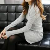 코코베른☆OP713/소피아 니트ops/심플/골지원피스/미니원피스/타이트핏/오피스룩/깔끔