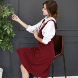 코코베른☆OP726-스타일 멜빵ops/롱스커트/레이어드원피스/핏이예쁜/여성스러움/놈코어룩