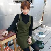 [임블리]카키뷔스티에 원피스/나시/민소매/울/플레어/겨울원피스