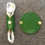 (헬로앤트디자인스튜디오)이탈리아 베지터블 가죽 케이블&이어폰 홀더 Green