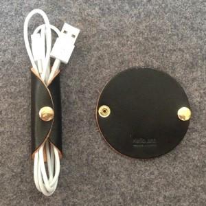 (헬로앤트디자인스튜디오)이탈리아 베지터블 가죽 케이블&이어폰 홀더 Black(무료배송)