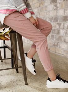 [걸스데일리]잇컬러세미배기 팬츠(핑크, 그레이, 카키)