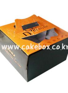 케익박스 오렌지 1호/2호(케익상자/케익박스/케익포장/cake box)