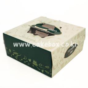 케익박스 금사 초록 5호/6호 (케익상자/케익박스/케익포장/cake box)