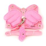 귀여운 천사날개 가슴줄 셋트(핑크/M사이즈)