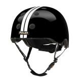 BMX 헬멧하면 [MELON] 스트라이프 (스트레이트 화이트/블랙) [당일배송] 훈바