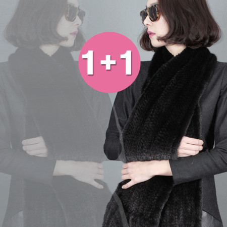 1+1 밍크 머플러 오리지널 북미산 기획전