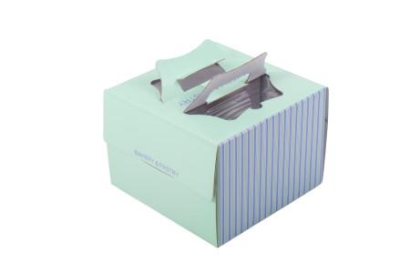 쉬폰 케익박스 1호 (스트라이프) (케익상자/케익박스/케익포장/cake box)